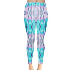 Aqua Tie Dye Leggings by CoolDesigns
