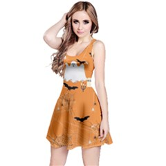 Orange Ghost Reversible Sleeveless Dress by CoolDesigns