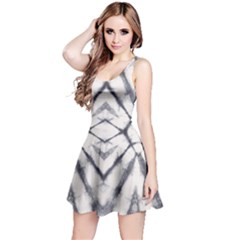 Gray Pattern Tie Dye Reversible Sleeveless Dress by CoolDesigns