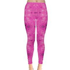 Pink & Black Pattern Tie Dye Leggings by CoolDesigns