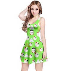 Green Eye Balls Reversible Sleeveless Dress