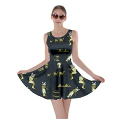 Egypt Cat Dark Skater Dress