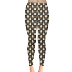 Black Halloween Pattern Layered Women s Leggings by CoolDesigns