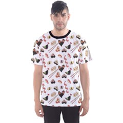 Colorful Pattern With Japanese Food Men s Sport Mesh Tee