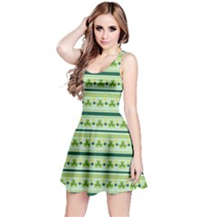 Shamrock Stripes Reversible Sleeveless Dress by CoolDesigns