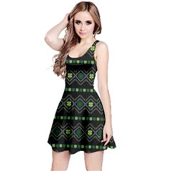 Shamrock Aztec Reversible Sleeveless Dress by CoolDesigns