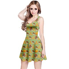 Green Hedgehog Reversible Sleeveless Dress