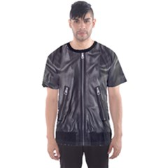 Faux Leather Jacket Men s Sport Mesh Tee