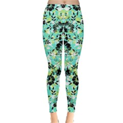 Light Green Floral Leggings