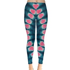 Navy & Pink Tie Dye Leggings by CoolDesigns