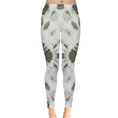 Dark Gray Tie Dye Leggings by CoolDesigns