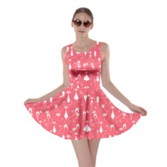 Pink Lovely Cats Pattern Skater Dress by CoolDesigns