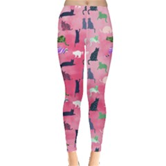 Pink Cat Style Leggings  by CoolDesigns