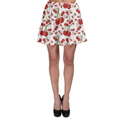 Red Cherry Pattern Skater Dress
