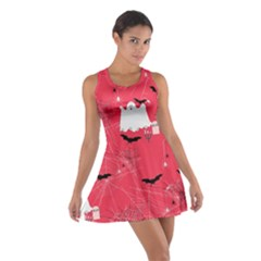 Red Ghost Cotton Racerback Dress by CoolDesigns