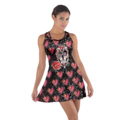 Heart Skull Cotton Racerback Dress by CoolDesigns