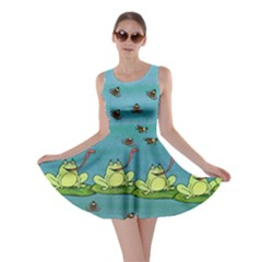 Frizzle Bee Frogs Skater Dress