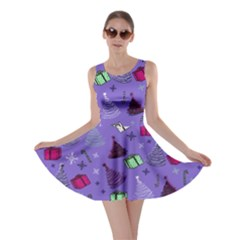 Purple Xmas Skater Dress