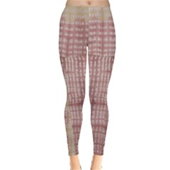 Mocha Check Tie Dye Leggings by CoolDesigns
