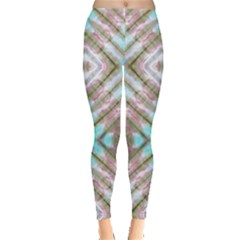 Aqua & Brown Tie Dye Leggings by CoolDesigns