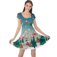 Xmas Town Cap Sleeve Dress by CoolDesigns