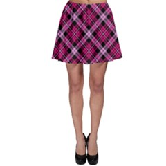 Pink Plaid Skater Skirt