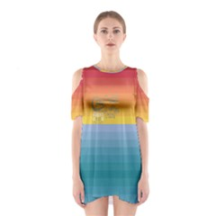 Rainbow Hawaii Women s Cutout Shoulder Dress by CoolDesigns
