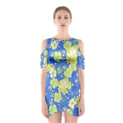 Blue Hawaii 2 Cutout Shoulder One Piece by CoolDesigns