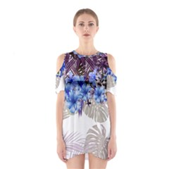 Blue Hawaii 3 Cutout Shoulder One Piece by CoolDesigns