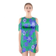 Green Hawaii 2 Cutout Shoulder One Piece by CoolDesigns