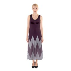 Coffee Chevron Sleeveless Maxi Dress by CoolDesigns