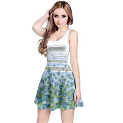 Graystripesblue Sleeveless Skater Dress by CoolDesigns