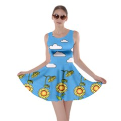 Frizzle Flower Plant Skater Dress by CoolDesigns