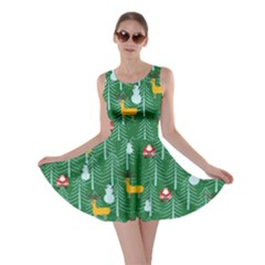 Green Trees Skater Dress by CoolDesigns