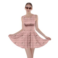 Pink Pattern With Cats Skater Dress by CoolDesigns