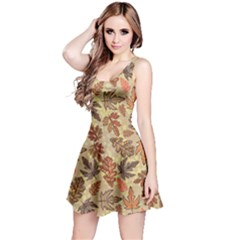 Leaves Colorful Reversible Sleeveless Dress