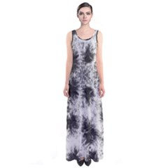 White Tie Dye Sleeveless Maxi Dress by CoolDesigns