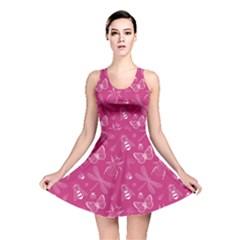 Magneta Insect Pattern Reversible Skater Dress