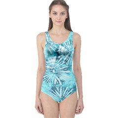 Aqua Tie Dye One Piece Swimsuit by CoolDesigns