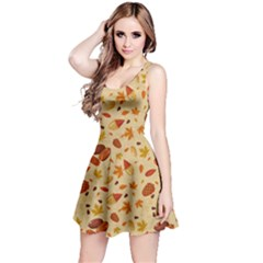 Light Yellow Nuts Reversible Sleeveless Dress by CoolDesigns
