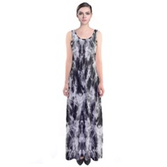 Black Tie Dye 3 Sleeveless Maxi Dress by CoolDesigns