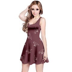 Marsala Tyrannosaurus Sleeveless Dress