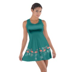 Flamingo Green Cotton Racerback Dress by CoolDesigns