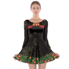 Dark Stars Long Sleeve Skater Dress by CoolDesigns