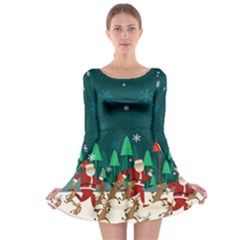 Xmas Town Long Sleeve Skater Dress by CoolDesigns
