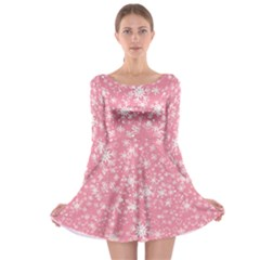Pink Xmas Long Sleeve Skater Dress by CoolDesigns