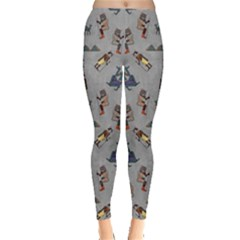 Egypt Cat Gray Leggings  by CoolDesigns