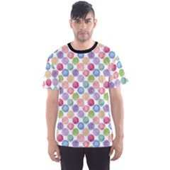 Colorful Watercolour Polka Dot Pattern Men s Sport Mesh Tee by CoolDesigns