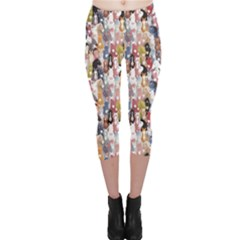 Colorful Pattern Colourful Cartoon Horses Capri Leggings by CoolDesigns
