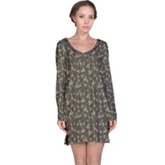 Green Camouflage Pattern Long Sleeve Nightdress by CoolDesigns